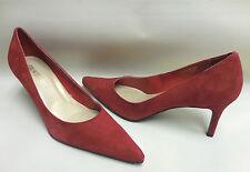 New COLIN STUART Victoria Secret Red Suede Leather High Heels Pumps Shoes 8.5