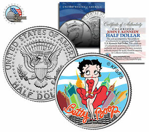 BETTY BOOP NYC Kennedy JFK Half Dollar U.S.Coin - Marilyn Monroe Pose - Licensed