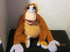 "Disney Store King Louie Orangutan The Jungle Book 14"" Plush w/ Closure Paws 209"
