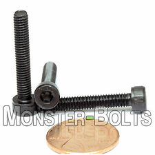 4mm x 0.70 x 25mm - Qty 10 - SOCKET HEAD CAP Screws 12.9 Alloy Steel Black Ox M4