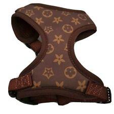 Monograma Diseñador Floral acolchado suave en el pecho Cuello Ajustable + Arnés de pecho XXS XS