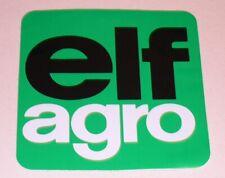 Ancien AUTOCOLLANT : ELF agro grand format - Modèle carré