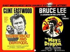 Thunderbolt & Lightfoot / Way of the Dragon double bill repro quad uk 30x40""