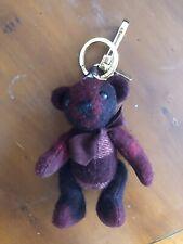 Burberry Thomas Teddy Bear Key Ring Bag Charm Bordeaux