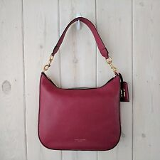 NWT Authentic Marc Jacobs Gotham Pebbled Leather Hobo Bag Merlot $495