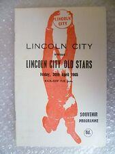 1965 LINCOLN CITY v LINCOLN CITY OLD STARS, 30th April (Souvenir Programme)