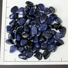 SODALITE A navy blue small tumbled, 1/2 lb bulk stones, knowledge 65-75 pk Nice!