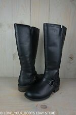 UGG DAHLEN BLACK LEATHER RIDING BOOTS  WOMENS US 11 NIB
