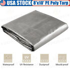 8x10FT Tarp Poly Tarpaulin Canopy Tent Shelter Car Boat Protective Cover 10 Mil