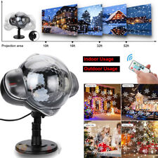 Christmas Light LED Laser Snowflake Projector Fairy Snowfall Party Holiday Lamp
