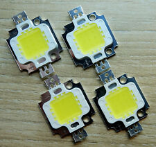 4 Stk. LED Chip  300 mA, 10 W, 900 Lm,kaltweiss, kw,  Neu, COB, Aquarium, Fluter