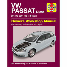 VW Passat Workshop Manual 2011-14 1.6 2.0  Diesel B7 Workshop Manual