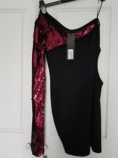 Little black dress with sequins size 8 by Aqua BNWT