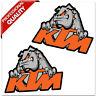 2 Vinyl Stickers Decals KTM Racing GP Car Motorbike Motorcycle Motocross Helmet