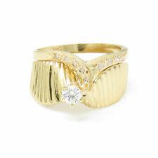 NYJEWEL 14k Solid Gold New 0.3ct Diamond Wedding Engagement Ring set