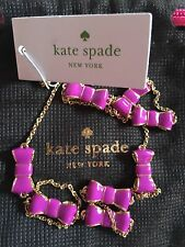 "NWT Kate Spade NECKLACE TAKE A BOW Baja Rose 32"" Station Magenta $78"