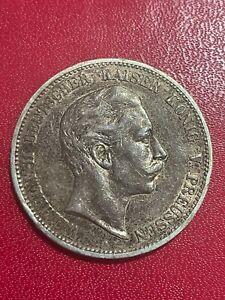 monnaie ALLEMAGNE Wilhelm II argent   5 MARK 1907 A