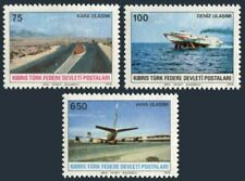 Turkish Cyprus 57-59,hinged.Mi 57-59. Transportation 1978.Roadway,Hydrofoil,