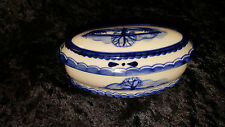 Vintage Russian Gzhel Porcelain Box With Lid Earth Designs