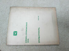 John Deere 100K Synchronous Thinner Technical Manual TM-1023
