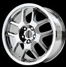 4 verchromte Aluminiumfelgen 9,5x18 Ford Mustang GT500 Style ET+24mm