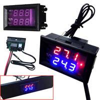 12/24VDigital LED Microcomputer Thermostat Controller Switch Temperature Sensor