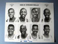 1990-91 Chicago Bulls Basketball Glossy Press Team Promo Photo w/ Michael Jordan