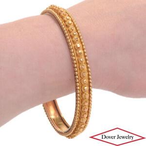 Vintage 22K Gold Stackable Bangle Bracelet 24.5 Grams NR