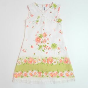 Girls Mayoral White Floral Summer Dress Age 8 Years 128cm Occasion Party Wedding