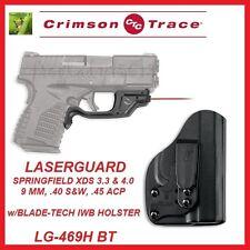 CRIMSON TRACE LG-469 H-BT LASERGUARD w/BLADE TECH IWB HOLSTER - SPRINGFIELD XD-S