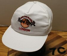 HARD ROCK CAFE LONDON HAT WHITE ADJUSTABLE IN VERY GOOD CONDITION