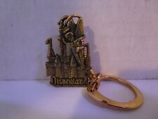Vintage Disneyland Castle & Tinkerbell Metal Key Chain Free Shipping