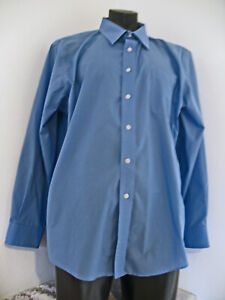 Croft & Barrow mens Big and Tall blue  shirt SIZE18/34/35 Cotton/Polyester