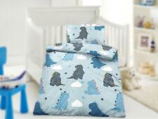 Baby Kinder Bettwäsche Renforcé 100x135 cm, Kissenbezug 40x60 cm Monster Blau