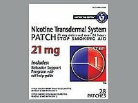 Habitrol Nicotine Transdermal System Patch 21 mg Step 1 - 28 ct, Pack of 2