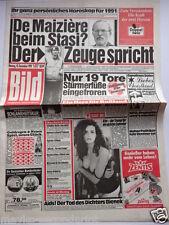 Bild Zeitung - 10.12.1990, Rudi Carrell, Linda Blair, Lech Walesa
