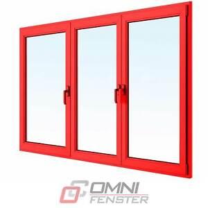 Kunststofffenster auf Maß PVC Fenster Aluminium Alu Verkleiden 2200 x 2150 mm