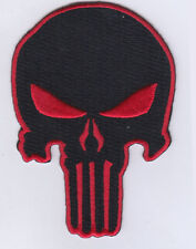 "5 Punisher (Black/Red) Embroidered Patches 3.5""x2.3"" iron-on"