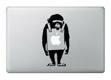 Banksy Monkey Macbook 13, 15, 17 Inch Air 11 13 Laptop Black Decal Sticker