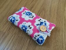 iPhone 5 5S 5C SE Fabric Padded Case - Cath Kidston Electric Pink Provence Rose