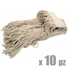 Mop Mocio Professionale in Cotone 400 gr per pinza (10 pz, pinza non inclusa)