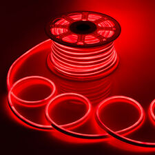 WYZworks Red Flexible Waterproof Soft Double Sided LED Neon Rope Light Strip Bar