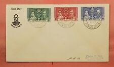 1937 CAYMAN ISLANDS FDC KGVI CORONATION