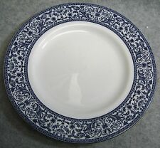 "Minton Infanta 8"" Salad Plate Platinum Trim Blue Florals English Bone China"