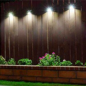 4X Super Bright Solar Powered LED Door Fence Wall Lights Outdoor Garden Lamp UK