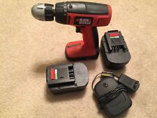 BLACK & DECKER CDC1440 14.4V CORDLESS DRILL DRIVER with 2 BATTERY & CHARGER-
