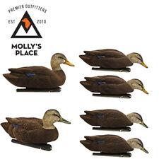 Avian-X 8075, TopFlight Flocked Black Duck Decoys 6 Pack