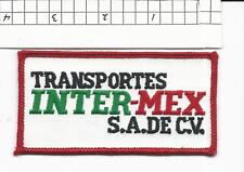 Transportes Inter-Mex truck driver  patch (C4)