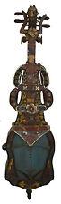 Ancien Luth Dramyen Tungna Sgra-Snyan cordophone polychrome Tibetain rare 25202
