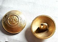 2 Metall Knöpfe gewölbt mit Krone und Stern Bouton Button Botón Düğme Guzik